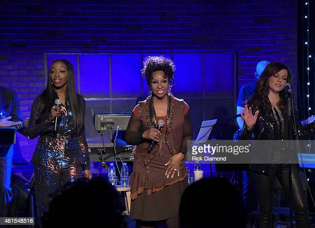 Estelle Gladys Knight and Martina McBride perform during the 'Skyville Live' Launch Featuring Martina McBride Gladys Knight And Special Guest Estelle...