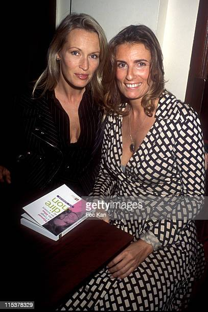 Estelle Lefebure and Lisa Azuelos during Lisa Azuelos Book Launching Party at The Doobies Club in Paris France