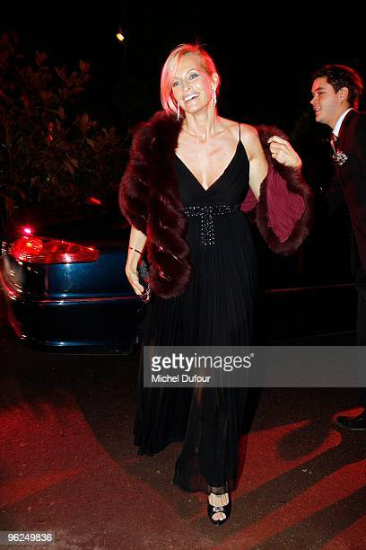 Estelle Lefebure attend the Fashion Dinner for AIDS at the Pavillon d'Armenonville on January 28 2010 in Paris France