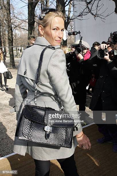 Estelle Lefebure attends the Christian Dior Ready to Wear show as part of the Paris Womenswear Fashion Week Fall/Winter 2011 at Espace Ephemere...