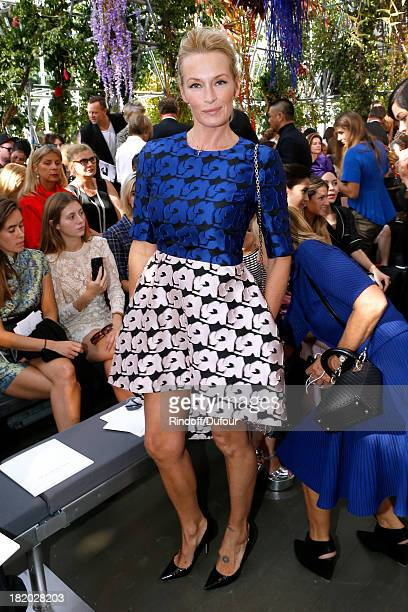 Estelle Lefebure attends the Christian Dior show as part of the Paris Fashion Week Womenswear Spring/Summer 2014 held at Musee Rodin on September 27...