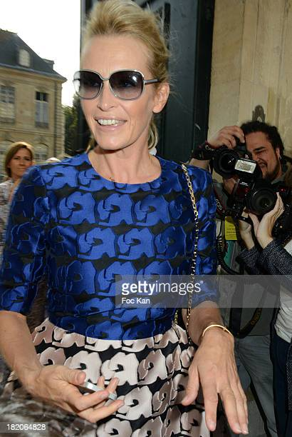 Estelle Lefebure attends the Christian Dior show as part of the Paris Fashion Week Womenswear Spring/Summer 2014 At the Musee Rodin on September 27...