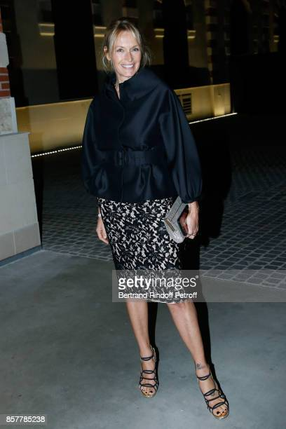 Estelle Lefebure attends the 'Diner Surrealiste' to celebrate the 241th birthday of 'Maison Louis Roederer' on October 4 2017 in Reims France