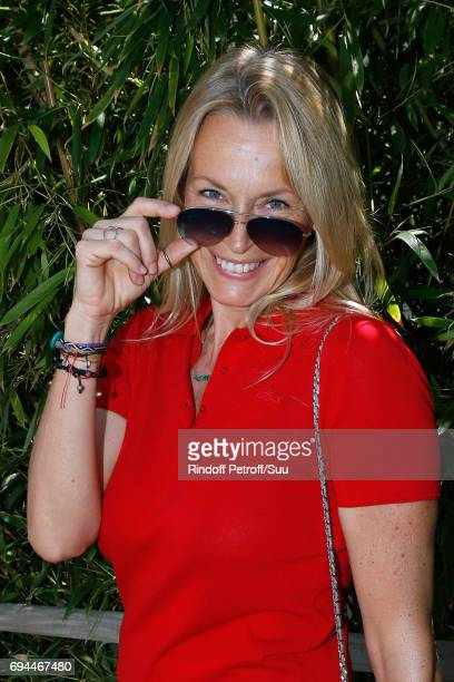 Estelle Lefebure attends the Women Final of the 2017 French Tennis Open Day Fourteen at Roland Garros on June 10 2017 in Paris France