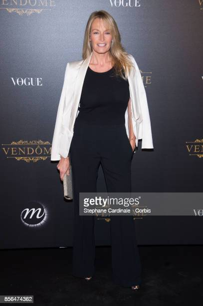 Estelle Lefebure attends Vogue Party as part of the Paris Fashion Week Womenswear Spring/Summer 2018 at on October 1 2017 in Paris France