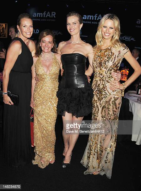 Estelle Lefebure Caroline Scheufele Eva Herzigova and Karolina Kurkova attend the 2012 amfAR's Cinema Against AIDS after party during the 65th Annual...