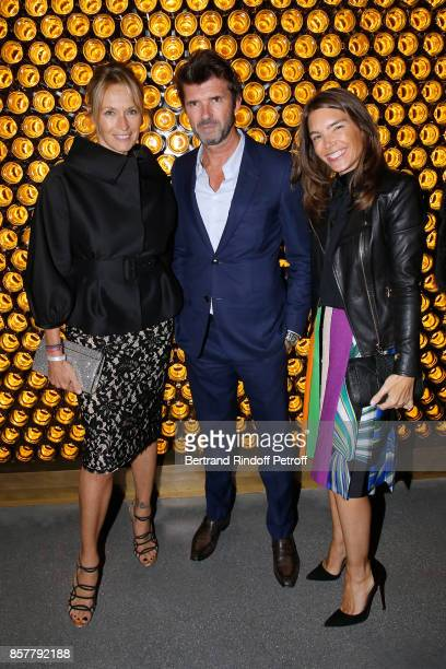 Estelle Lefebure CEO of Mazarine Group PaulEmmanuel Reiffers and Juliette Longuet attend the 'Diner Surrealiste' to celebrate the 241th birthday of...