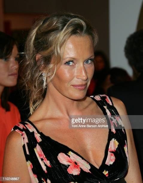 Estelle Lefebure during 31st American Film Festival of Deauville Cartier Party Arrivals at CID in Deauville France