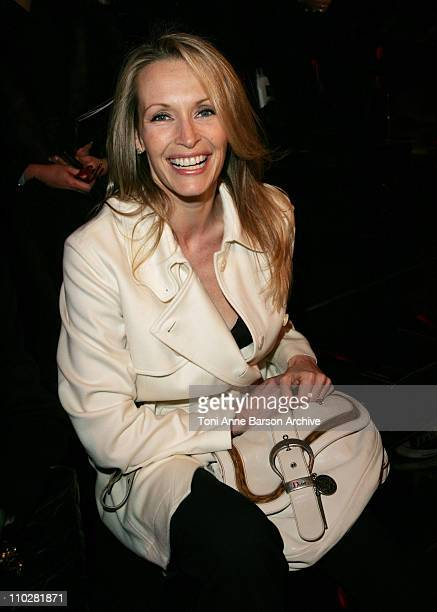 Estelle Lefebure during Paris Fashion Week Autumn/Winter 2006 Ready to Wear Christian Dior Front Row at Grand Palais in Paris France