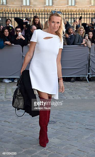 Estelle Lefebure is arriving at Dior Fashion Show during the Paris Fashion Week S/S 2016 Day 4 on October 2 2015 in Paris France