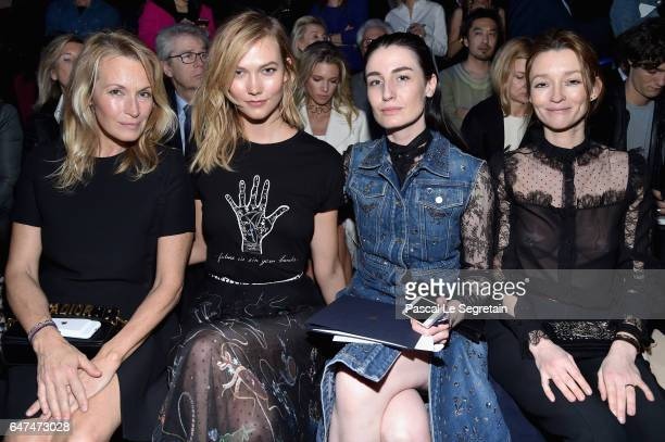 Estelle Lefebure Karlie Kloss Erin O'Connor and Audrey Marnay attend the Christian Dior show as part of the Paris Fashion Week Womenswear Fall/Winter...