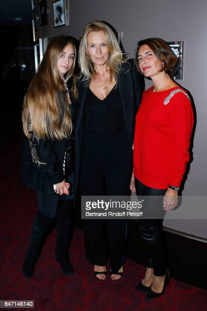 Estelle Lefebure standing between her daughter Emma Smet and Alessandra Sublet attend the Reopening of the Hotel Barriere Le Fouquet's Paris...