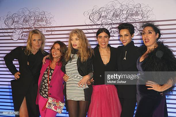 Estelle Lefebure Victoria Abril Arielle Dombasle Blana Li Farida Khelfa and Rossy De palma attend the Jean Paul Gaultier Exhibition photocall at...