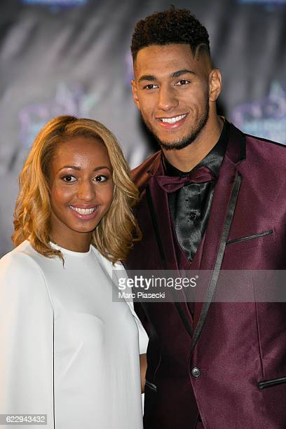 Estelle Mossely and Tony Yoka attend the 18th NRJ Music Awards at Palais des Festivals on November 12 2016 in Cannes France