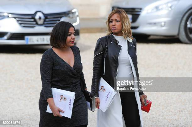 Estelle Mossely during the reception of the CIO by the French President at Elysee Palais on September 15 2017 in Paris France