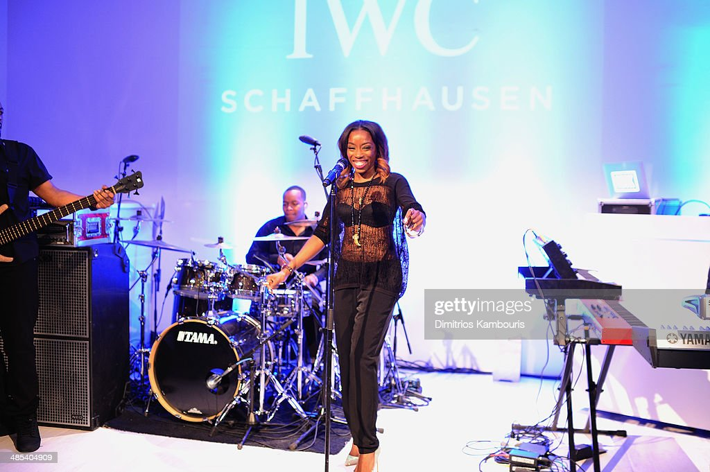 Estelle perfoms onstage at the 'For the Love of Cinema' dinner hosted by IWC Schaffhausen and Tribeca Film Festival at Urban Zen on April 17, 2014 in New York City.