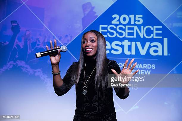 Estelle performs at the 2015 ESSENCE Festival Sponsor Awards onstage on MIST Harlem on October 27 2015 in New York City
