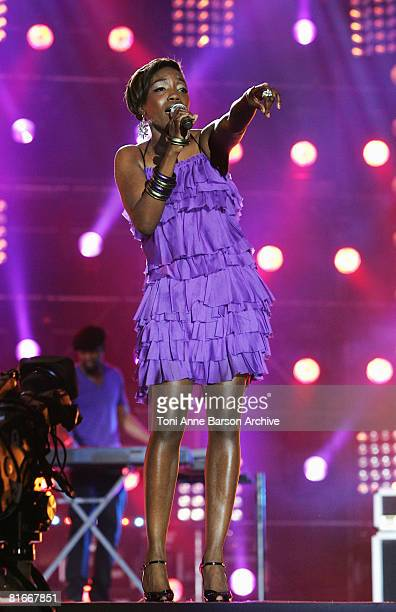 Estelle Performs at the France 2 Television's 'Fete de la Musique' at the Auteuil Horse track on June 21 2008 in Paris France