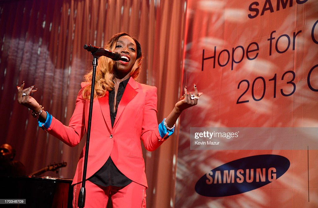 Estelle performs on stage during the Samsung's Annual Hope for Children Gala at CiprianiÕs in Wall Street on June 11, 2013 in New York City.