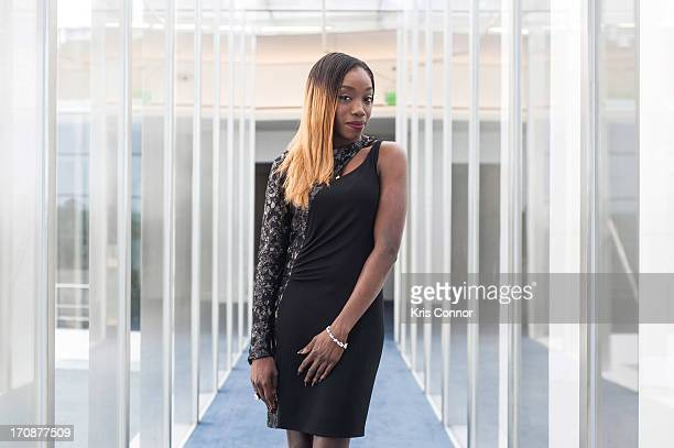 Estelle poses for a portrait during the Young Lawyers Call to Action Initiative and Lawyers' Committee's 50th Anniversary Kickoff Reception and...