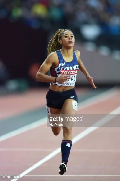 Estelle RAFFAI France during 200 meter heats in London at the 2017 IAAF World Championships athletics v