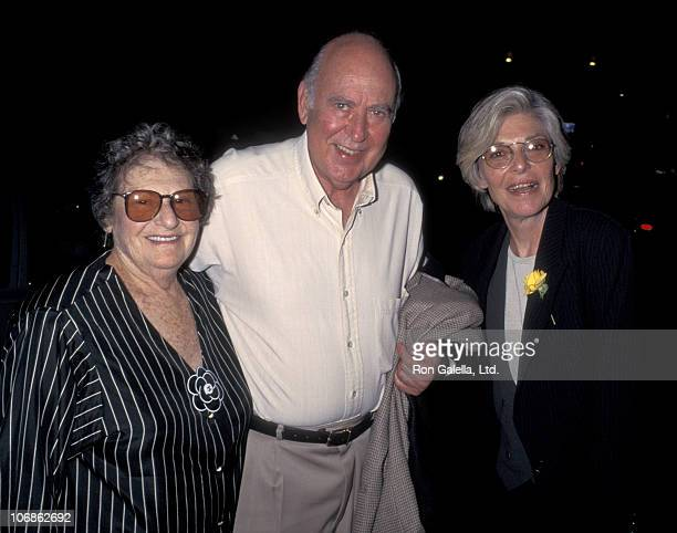 Estelle Reiner Carl Reiner and Anne Bancroft during 'Exclusive Shoot' Opening Night October 1 1995 at Tiffany Theater in West Hollywood California...