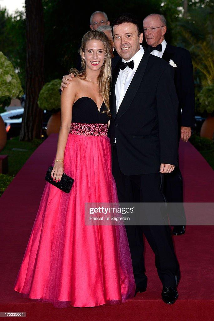 Estelle Valeri and Stephane Valeri attend the 65th Monaco Red Cross Ball Gala at Sporting Monte-Carlo on August 2, 2013 in Monte-Carlo, Monaco.