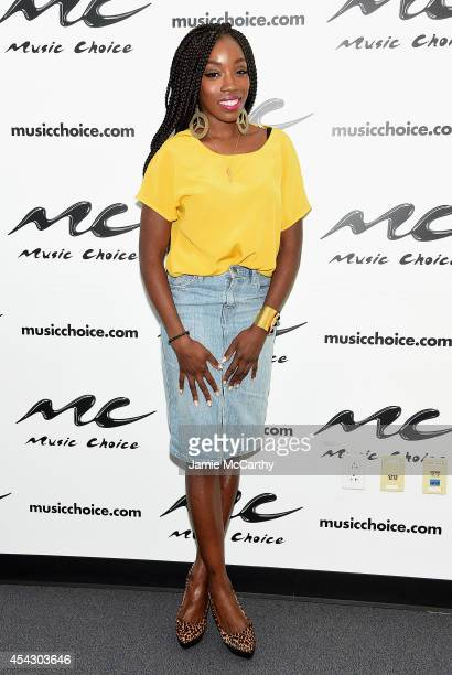 Estelle visits Music Choice on August 28 2014 in New York City