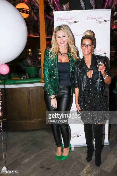 Ester Dee Leanne Brown attend the launch of Skinnea Coffee at Neighbourhood Spinningfields on November 20 2017 in Manchester England