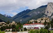 The famous Stanley hotel in beautiful Estes Park in the Rocky Mountains of Colorado.
