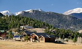 """""""Beautiful Estes Park, Colorado with the snow capped mountains of the Rocky Mountain National Park in the background.To see some of my personal favorites,  please visit my lightbox."""""""