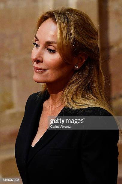 Esther Alcocer Koplowitz attends an audience during the Princess of Asturias awards 2016 at the Reconquista Hotel on October 21 2016 in Oviedo Spain