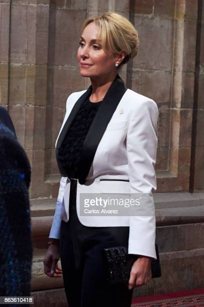 Esther Alcocer Koplowitz attends the deliver of Princess of Asturias awards medals during the Princess of Asturias Award 2017 at the Reconquista...