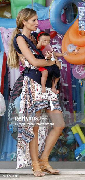 Esther Canadas and her daughter Galia Santina are seen on July 16 2015 in Ibiza Spain