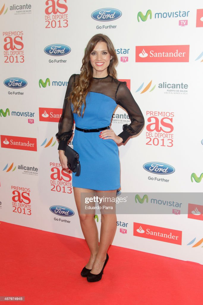 Esther Collado attends 'As del deporte' awards 2013 photocall at Palace hotel on December 19, 2013 in Madrid, Spain.