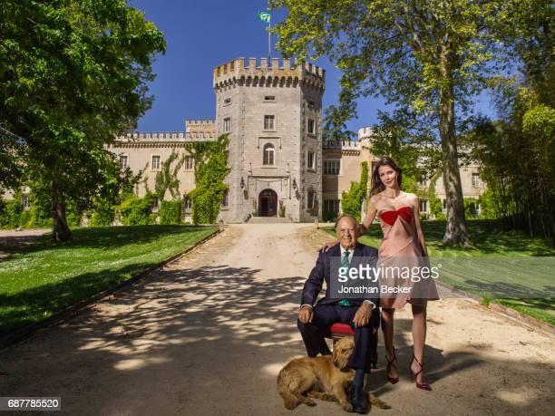 Esther Dona and Carlos Falco are photographed for Vanity Fair Spain on May 27 2016 at Palacio el Rincon in Madrid Spain COVER IMAGE