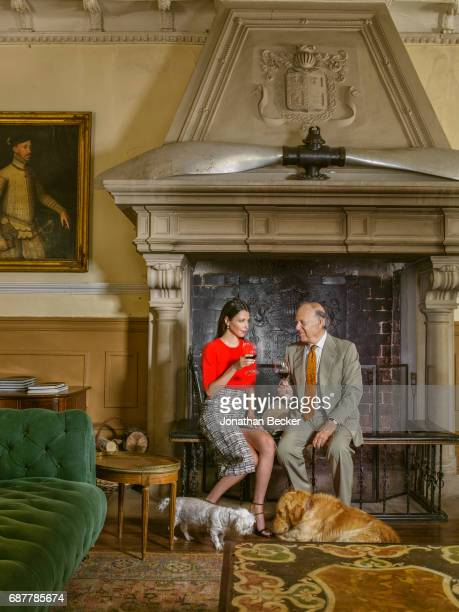 Esther Dona and Carlos Falco are photographed for Vanity Fair Spain on May 27 2016 at Palacio el Rincon in Madrid Spain PUBLISHED IMAGE
