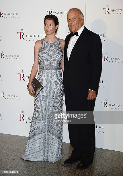 Esther Dona and Carlos Falco attend the Royal Theatre opening season concert on September 15 2016 in Madrid Spain