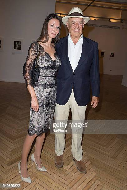 Esther Dona and Carlos Falco attends the opening of the exhibition Photo Espaa organized the fashion magazine Happy Bazaar in the circle of Fine Arts...