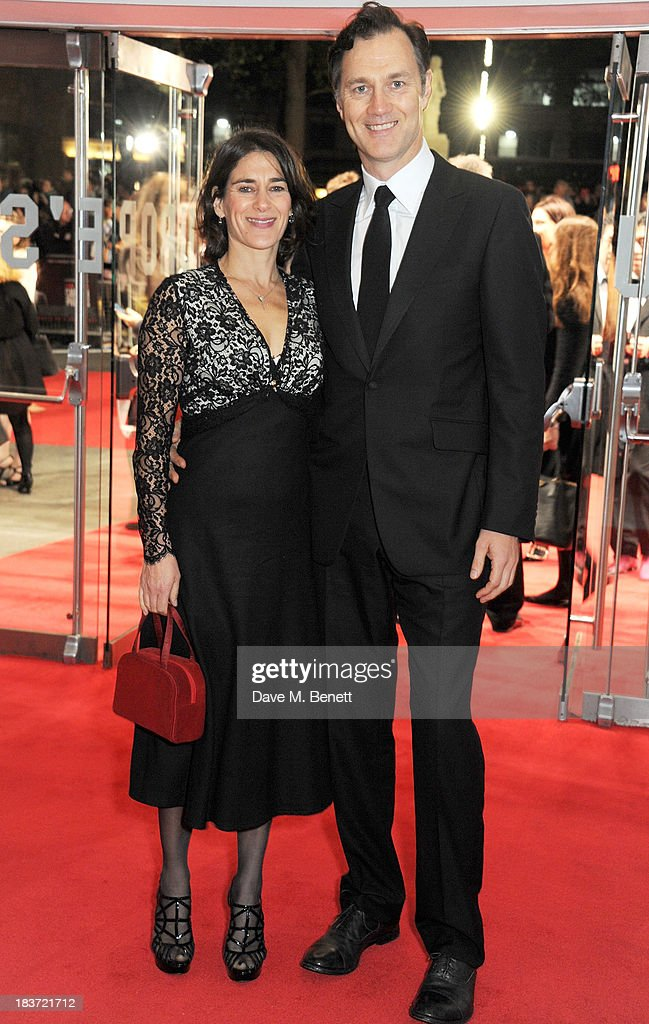 Esther Freud (L) and David Morrissey attend the European Premiere of 'Captain Phillips' on the opening night of the 57th BFI London Film Festival at Odeon Leicester Square on October 9, 2013 in London, England.