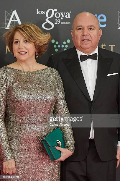 Esther Garcia and Agustin Almodovar attend Goya Cinema Awards 2014 at Centro de Congresos Principe Felipe on February 7 2015 in Madrid Spain