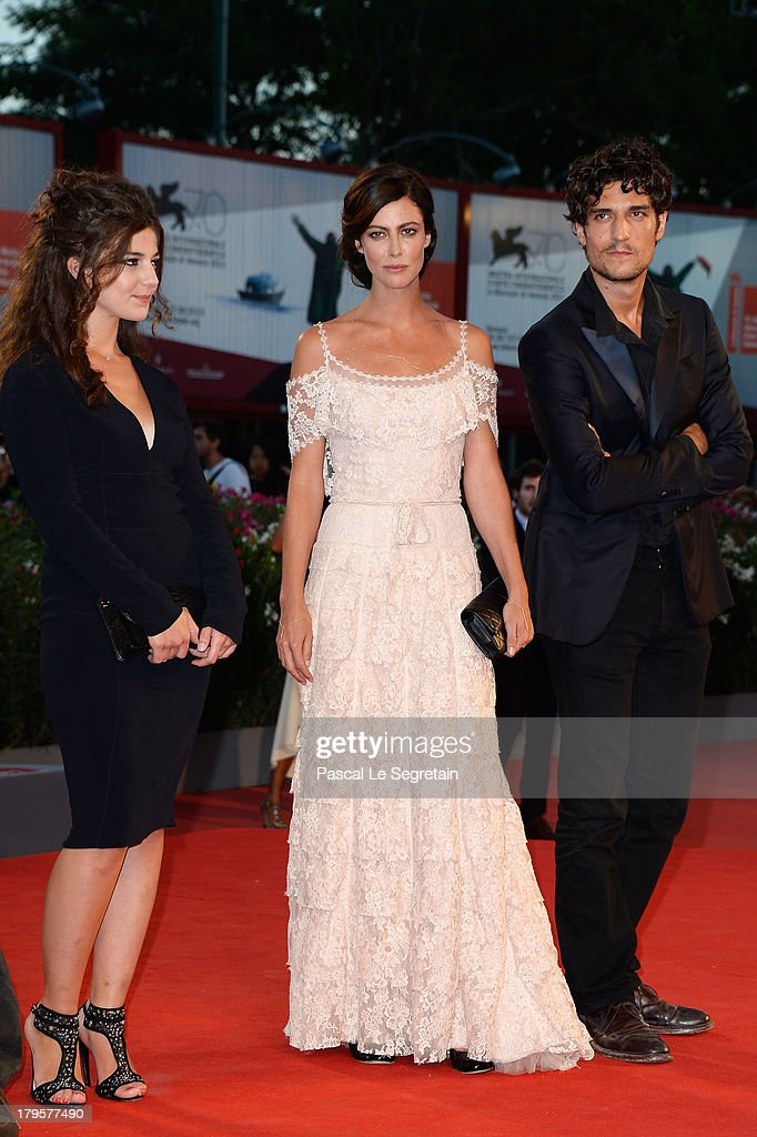 Esther Garrel, Anna Mouglalis and Louis Garrel attend the 'Jealousy' Premiere during the 70th Venice International Film Festival at the Palazzo del Cinema on September 5, 2013 in Venice, Italy.