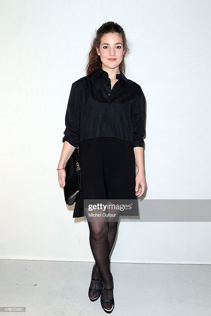 <a gi-track='captionPersonalityLinkClicked' href=/galleries/search?phrase=Esther+Garrel&family=editorial&specificpeople=7784458 ng-click='$event.stopPropagation()'>Esther Garrel</a> attends the John Galliano show as part of the Paris Fashion Week Womenswear Fall/Winter 2014-2015 on March 2, 2014 in Paris, France.