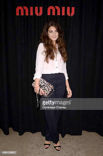 Esther Garrel attends the Miu Miu show as part of the Paris Fashion Week Womenswear Spring/Summer 2015 on October 1 2014 in Paris France