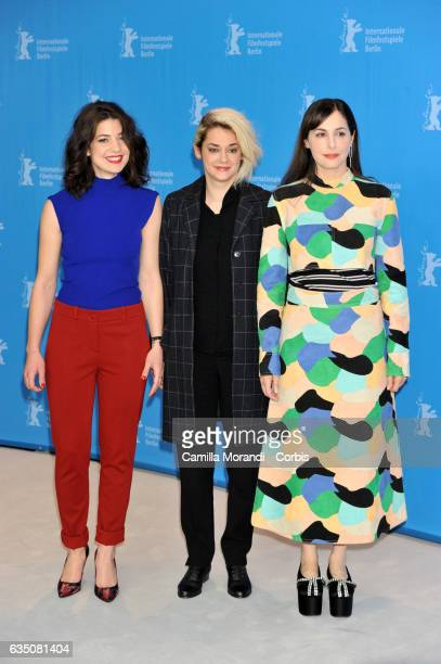 Esther Garrel Victoire Du Bois and Amira Casar attend the 'Call Me by Your Name' photo call during the 67th Berlinale International Film Festival...