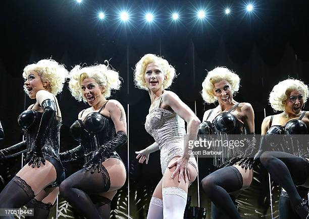 Esther Hannaford who plays Ann Darrow performs on stage during a 'King Kong' production media call at the Regent Theatre on June 14 2013 in Melbourne...