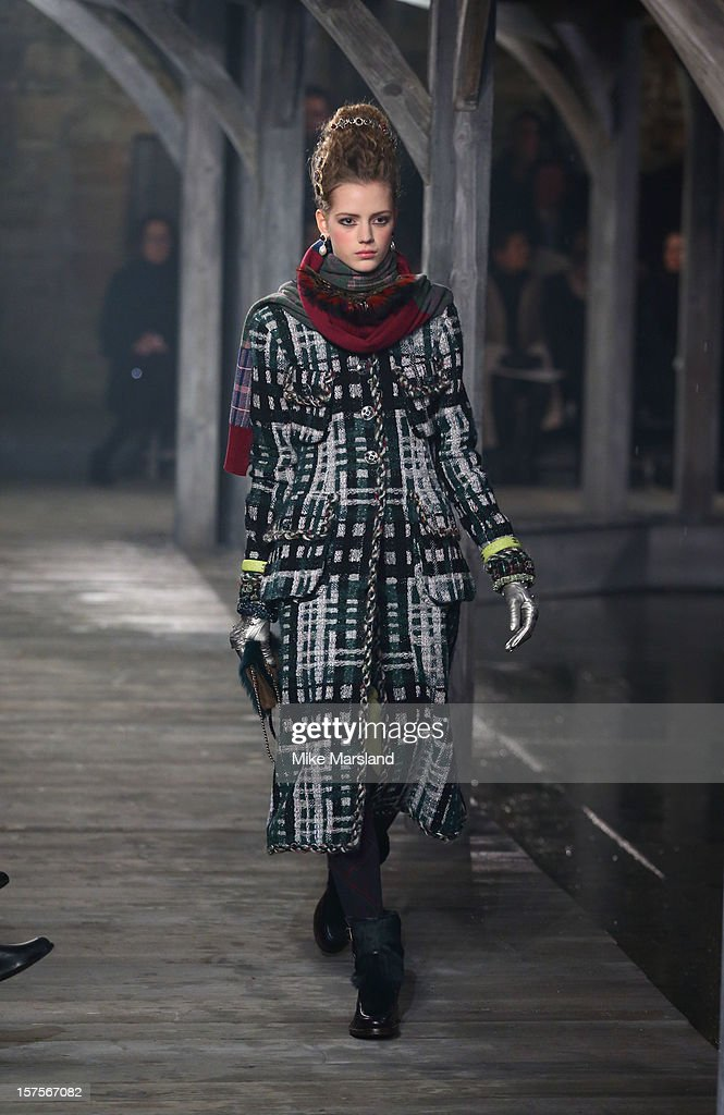 Esther Heesch walks the runway at the