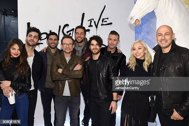 Esther Kim Matthew Daddario Tyler Hoechlin Christian Slater Zachary Levi Darren Criss Omar Sharif Jr Ashley Weston and John Varvatos attend John...
