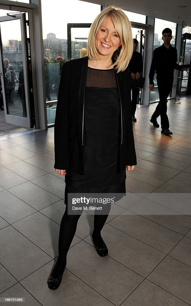 Esther McVey attends a drink reception celebrating 'An Evening With Chickenshed', a cabaret performance in aid of inclusive theatre company Chickenshed, hosted by Jonathan Shalit at The London Television Centre on April 16, 2013 in London, England.