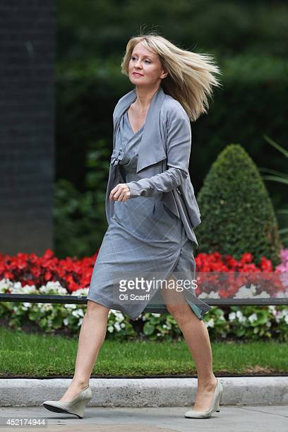 Esther McVey Minister for Employment and Disabilities arrives at Downing Street on July 15 2014 in London England British Prime Minister David...